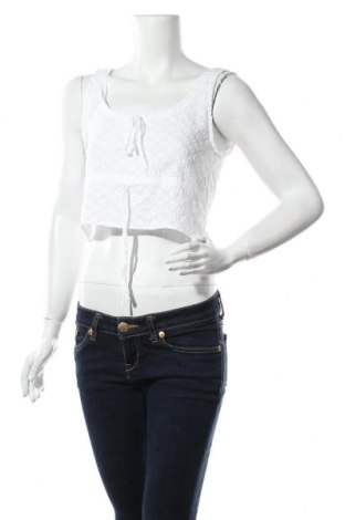 Γυναικείο αμάνικο μπλουζάκι Fashion Union, Μέγεθος M, Χρώμα Λευκό, Βαμβάκι, Τιμή 6,43€