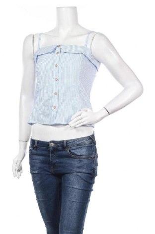 Γυναικείο αμάνικο μπλουζάκι Jacqueline De Yong, Μέγεθος XS, Χρώμα Μπλέ, 55% βαμβάκι, 45% πολυεστέρας, Τιμή 7,22€