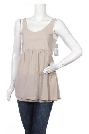 Γυναικείο αμάνικο μπλουζάκι Myrine, Μέγεθος S, Χρώμα  Μπέζ, Πολυεστέρας, Τιμή 8,35€