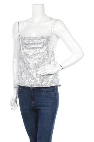 Γυναικείο αμάνικο μπλουζάκι Nly Trend, Μέγεθος M, Χρώμα Ασημί, Πολυεστέρας, Τιμή 7,09€