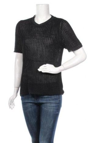 Дамски пуловер, Размер M, Цвят Черен, Лен, Цена 6,30лв.
