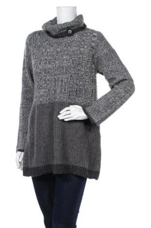 Дамски пуловер, Размер XL, Цвят Сив, 94% акрил, 6% вълна, Цена 16,91лв.