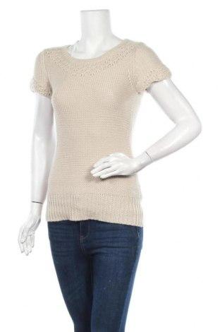 Дамски пуловер American Eagle, Размер XS, Цвят Бежов, 52% акрил, 46% вълна, Цена 23,63лв.