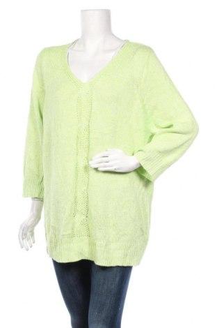 Дамски пуловер Beme, Размер XL, Цвят Зелен, Памук, акрил, Цена 21,74лв.