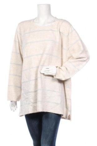 Дамски пуловер Beme, Размер XXL, Цвят Бежов, Акрил, полиамид, еластан, полиестер, Цена 77,49лв.