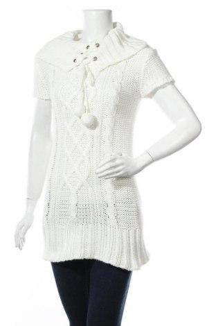 Γυναικείο πουλόβερ Clockhouse, Μέγεθος L, Χρώμα Λευκό, Ακρυλικό, Τιμή 13,25€