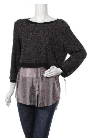 Дамски пуловер Elie Tahari, Размер L, Цвят Сив, Полиестер, акрил, Цена 123,69лв.