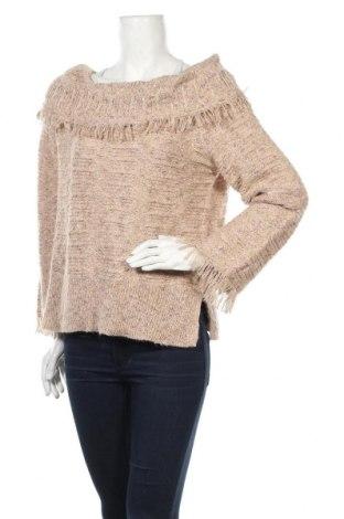 Дамски пуловер Linda Matthews, Размер L, Цвят Бежов, Цена 25,52лв.