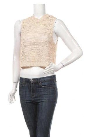 Дамски пуловер Metalic, Размер M, Цвят Бежов, 72% памук, 24% полиамид, 4% метални нишки, Цена 5,55лв.