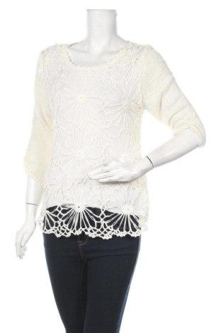 Γυναικείο πουλόβερ Miss Anne, Μέγεθος L, Χρώμα Λευκό, Βισκόζη, Τιμή 10,56€