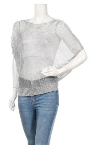 Дамски пуловер Nicole, Размер M, Цвят Сребрист, Цена 22,68лв.