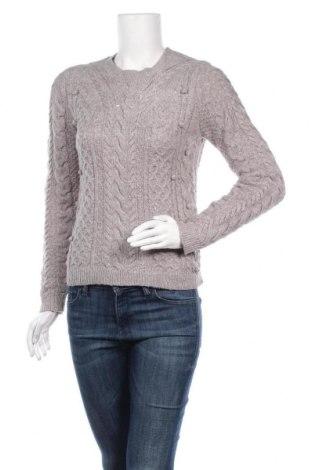 Дамски пуловер Review, Размер M, Цвят Сив, 44% акрил, 43% полиестер, 11% полиамид, 2% еластан, Цена 18,36лв.