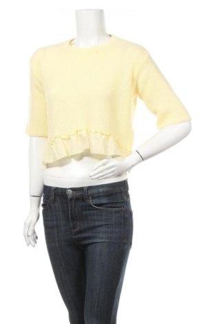 Дамски пуловер Topshop, Размер M, Цвят Жълт, Акрил, Цена 17,48лв.