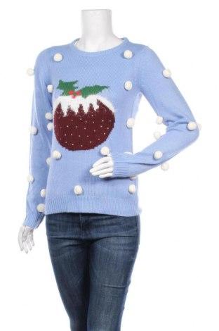 Дамски пуловер Vila, Размер XS, Цвят Син, Акрил, Цена 36,00лв.