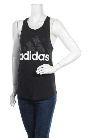 Γυναίκειο αθλητικό τοπ Adidas, Μέγεθος XS, Χρώμα Μαύρο, 50% πολυεστέρας, 25% βαμβάκι, 25% βισκόζη, Τιμή 12,63€