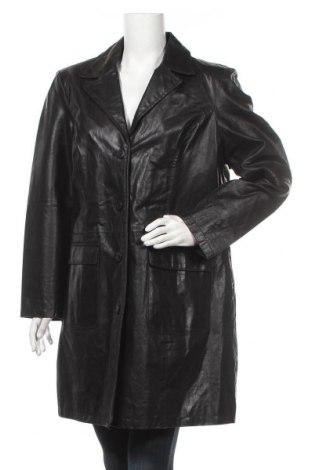 Дамско кожено яке, Размер XXL, Цвят Черен, Естествена кожа, Цена 36,23лв.
