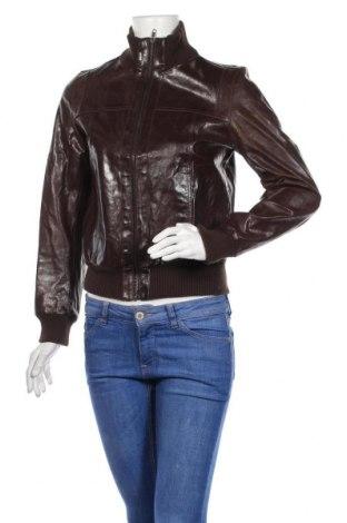 Дамско кожено яке, Размер S, Цвят Кафяв, Естествена кожа, Цена 60,69лв.