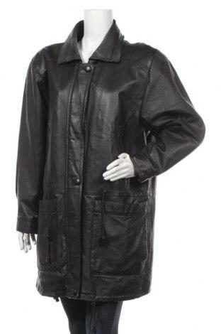 Дамско кожено яке, Размер L, Цвят Черен, Естествена кожа, Цена 16,01лв.