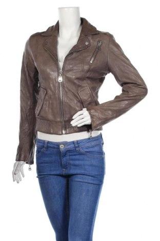 Дамско кожено яке Doma, Размер S, Цвят Сив, Естествена кожа, Цена 36,22лв.