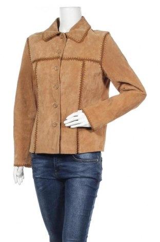 Дамско кожено яке In Puncto, Размер M, Цвят Бежов, Естествен велур, Цена 22,58лв.