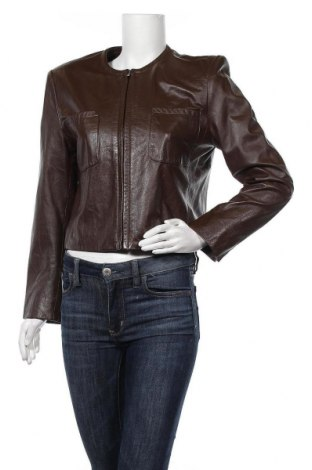 Дамско кожено яке Jones New York, Размер M, Цвят Кафяв, Естествена кожа, Цена 107,73лв.