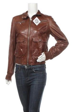 Γυναικείο δερμάτινο μπουφάν Mabrun, Μέγεθος XL, Χρώμα Καφέ, Γνήσιο δέρμα, Τιμή 49,65€