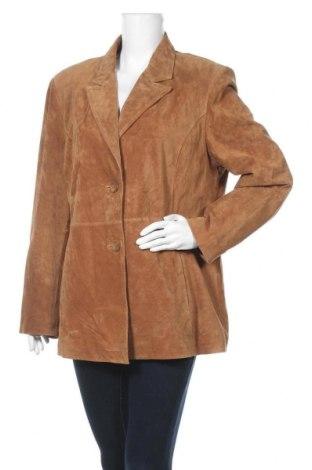 Дамско кожено яке St. John's Bay, Размер XL, Цвят Кафяв, Естествен велур, Цена 23,10лв.