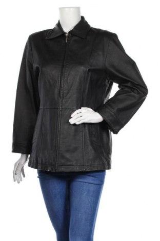 Дамско кожено яке Yessica, Размер L, Цвят Черен, Естествена кожа, Цена 17,22лв.