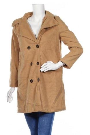Дамско палто, Размер M, Цвят Бежов, 95% полиестер, 5% еластан, Цена 13,02лв.