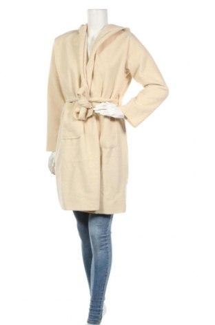 Дамско палто, Размер M, Цвят Екрю, Полиестер, Цена 20,79лв.