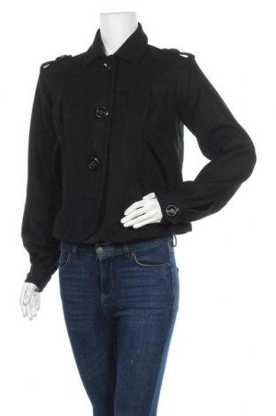 Дамско палто, Размер M, Цвят Черен, 60% полиестер, 40% вълна, Цена 15,49лв.