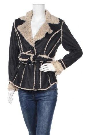Дамско палто, Размер S, Цвят Черен, Полиестер, Цена 12,10лв.