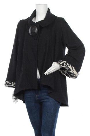 Дамско палто Alexsarah, Размер S, Цвят Черен, 50% вълна, 50% полиестер, Цена 16,28лв.