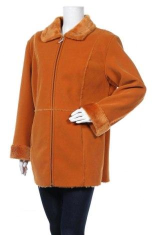 Дамско палто 4/5/6 Fashion Concept, Размер XL, Цвят Оранжев, 80% полиестер, 20% полиамид, Цена 59,54лв.