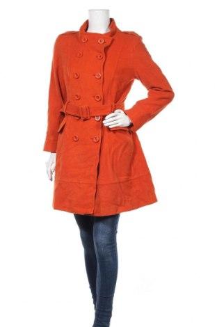 Γυναικείο παλτό Hallhuber, Μέγεθος M, Χρώμα Πορτοκαλί, 60% μαλλί, 30% πολυαμίδη, 10% κασμίρι, Τιμή 30,92€