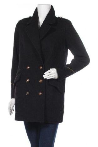 Дамско палто Mango, Размер M, Цвят Черен, 60% вълна, 34% полиестер, 3% полиамид, 3% акрил, Цена 51,03лв.