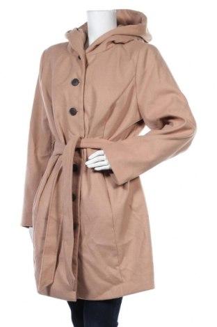 Γυναικείο παλτό Mia Linea, Μέγεθος XL, Χρώμα  Μπέζ, 88% πολυεστέρας, 10% βισκόζη, 2% ελαστάνη, Τιμή 27,02€