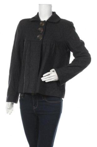 Дамско палто Mim, Размер L, Цвят Сив, 60% вълна, 30% полиестер, 10% вискоза, Цена 14,96лв.