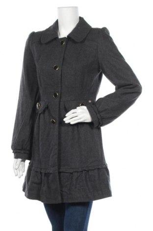Γυναικείο παλτό Miso, Μέγεθος M, Χρώμα Γκρί, 57% μαλλί, 22% πολυεστέρας, 9% βισκόζη, 6%ακρυλικό, 6% πολυαμίδη, Τιμή 16,43€
