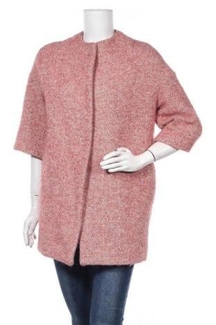 Дамско палто Miss Miss, Размер M, Цвят Розов, 44% вълна, 14% акрил, 12% полиамид, 11% вълна от алпака, 18% полиестер, 1% вискоза, Цена 29,30лв.