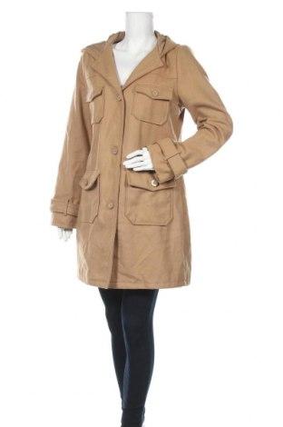 Дамско палто Old Navy, Размер L, Цвят Бежов, 68% вълна, 20% полиестер, 12% полиамид, Цена 37,17лв.