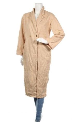 Дамско палто Order Plus, Размер L, Цвят Бежов, 95% полиестер, 5% еластан, Цена 11,72лв.