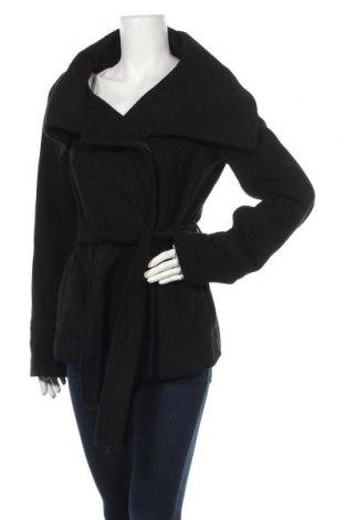 Дамско палто Reserved, Размер L, Цвят Черен, 90% полиестер, 10% вискоза, Цена 27,93лв.