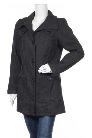 Дамско палто S.Oliver, Размер L, Цвят Сив, 55% вълна, 30% вискоза, 15% полиестер, Цена 46,41лв.
