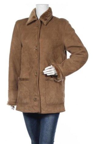 Дамско палто Sure, Размер S, Цвят Кафяв, Полиестер, Цена 10,76лв.