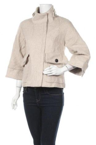 Дамско палто Target, Размер S, Цвят Бежов, Вълна, полиестер, Цена 54,81лв.