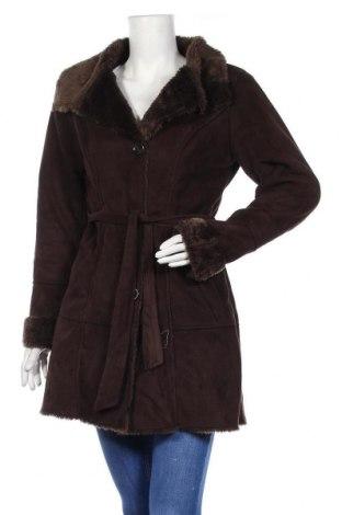 Дамско палто Yessica, Размер S, Цвят Кафяв, 57% акрил, 43% полиестер, Цена 42,84лв.