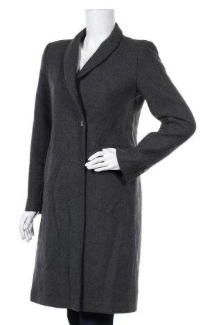 Дамско палто Zara, Размер L, Цвят Сив, 69% вълна, 28% полиамид, 3% полиестер, Цена 88,78лв.