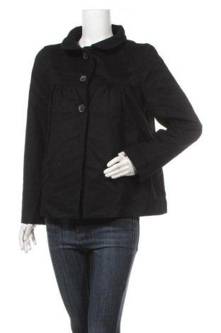 Дамско палто Zara, Размер M, Цвят Черен, Цена 15,23лв.