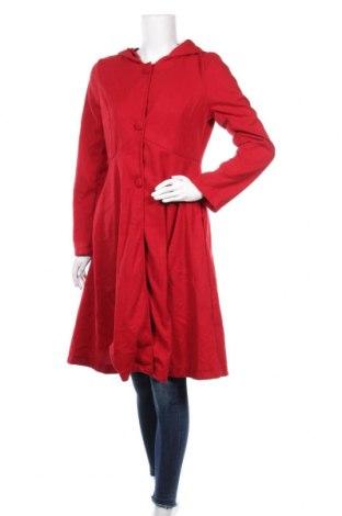 Дамско поларено палто Miss Look, Размер M, Цвят Червен, Полиестер, Цена 43,68лв.